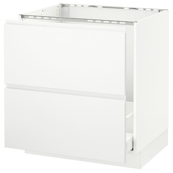 SEKTION Base cabinet f/sink & recycling, white Maximera/Voxtorp matt white, 30x24x30 ""