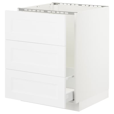 SEKTION Base cabinet f/sink & waste sorting, white Maximera/Axstad matt white, 24x24x30 ""
