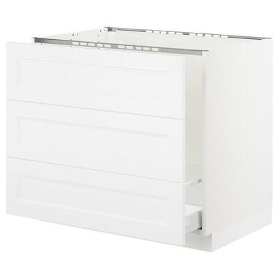 "SEKTION Base cabinet f/sink & waste sorting, white Maximera/Axstad matt white, 36x24x30 """