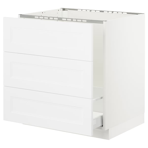 "SEKTION Base cabinet f/sink & waste sorting, white Maximera/Axstad matt white, 30x24x30 """