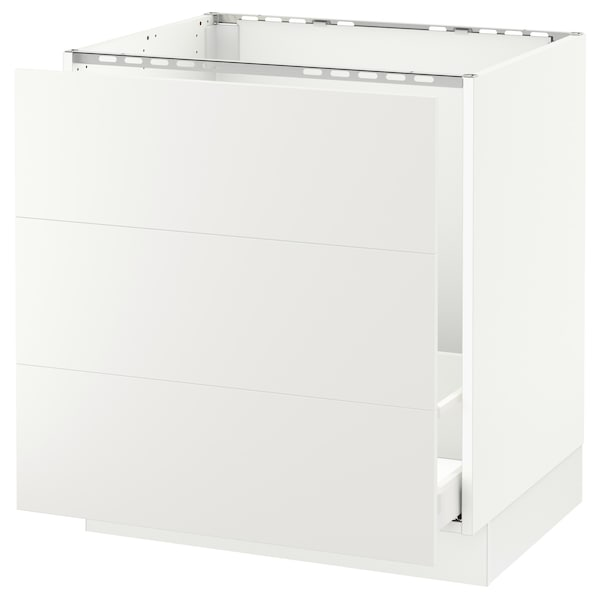 "SEKTION Base cabinet f/sink & waste sorting, white Maximera/Häggeby white, 30x24x30 """