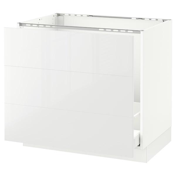"SEKTION Base cabinet f/sink & waste sorting, white Maximera/Ringhult white, 36x24x30 """