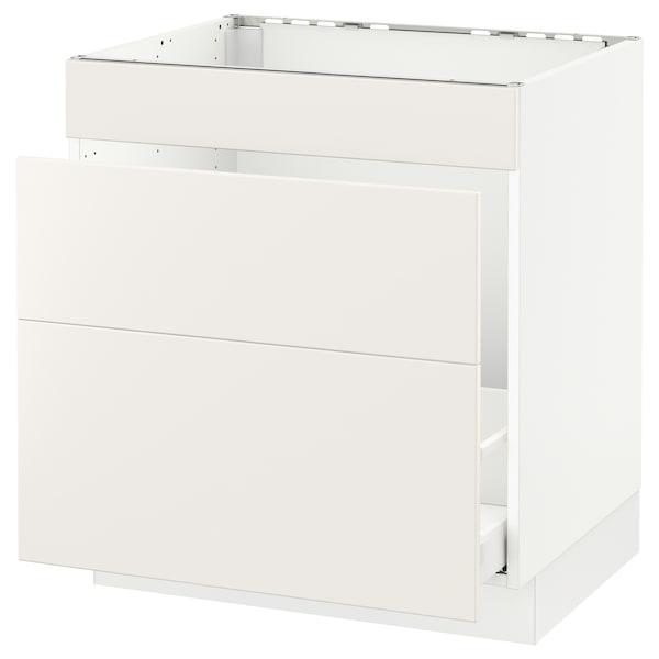 """SEKTION Base cabinet f/sink & waste sorting, white Maximera/Veddinge white, 30x24x30 """""""