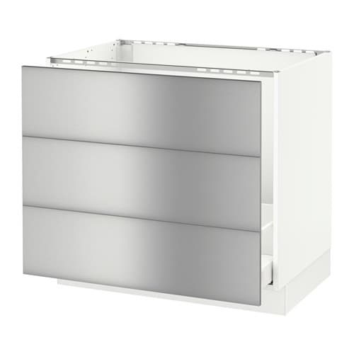 Off White Kitchen Cabinets With Stainless Appliances: SEKTION Base Cabinet F/sink & Waste Sorting