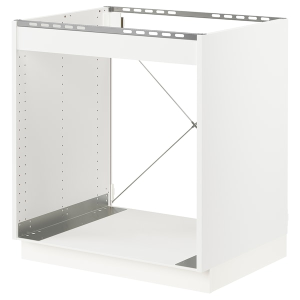 """SEKTION Base cabinet for oven, white/Axstad dark gray, 30x24x30 """""""