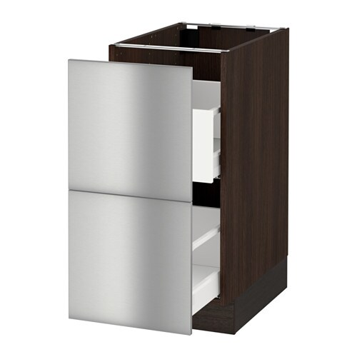 Stainless Steel Tall Kitchen Cabinet: SEKTION Base Cabinet For Recycling