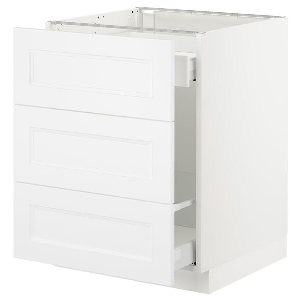 "SEKTION Base cabinet for recycling, white Maximera/Axstad matt white, 24x24x30 """