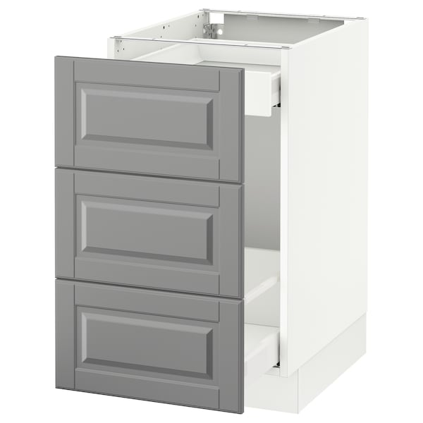 """SEKTION Base cabinet for recycling, white Maximera/Bodbyn gray, 18x24x30 """""""