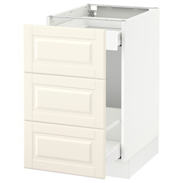 """SEKTION Base cabinet for recycling, white Maximera/Bodbyn off-white, 18x24x30 """""""