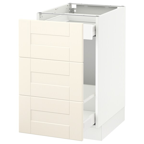 """SEKTION Base cabinet for recycling, white Maximera/Grimslöv off-white, 18x24x30 """""""