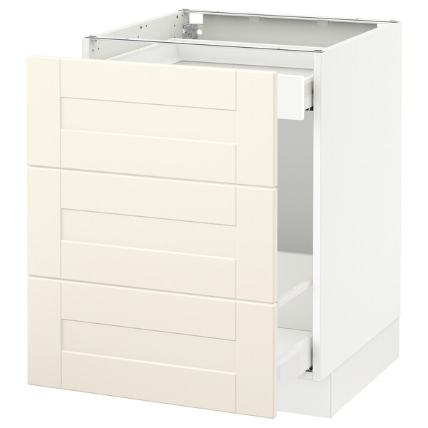 """SEKTION Base cabinet for recycling, white Maximera/Grimslöv off-white, 24x24x30 """""""