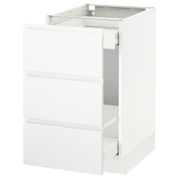 "SEKTION Base cabinet for recycling, white Maximera/Voxtorp matt white, 18x24x30 """