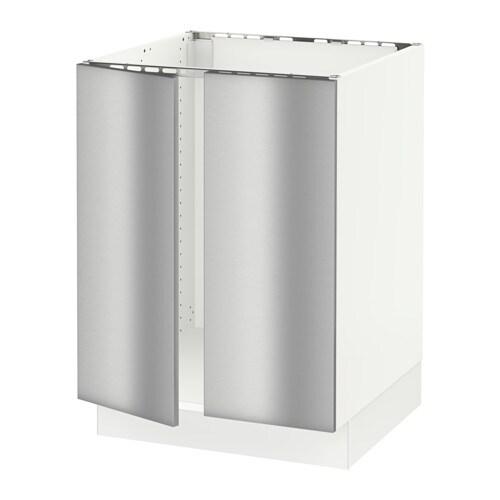 Sektion Base Cabinet For Sink 2 Doors White Grevsta