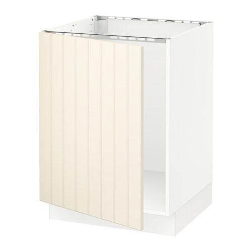 SEKTION Base cabinet for sink  white, Hittarp off white  IKEA