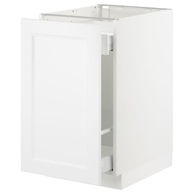 "SEKTION Base cabinet for sorting + 1 door, white Maximera/Axstad matt white, 18x24x30 """