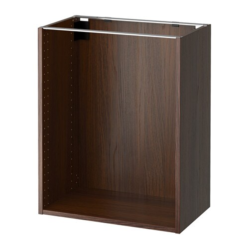 Sektion base cabinet frame wood effect brown 24x14 3 for Wood effect kitchen cupboards