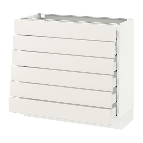 Sektion Base Cabinet 6 Fronts Low Drawers
