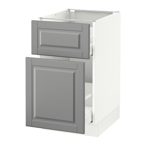 sektion base cabinet p out storage drawer white bodbyn gray 18x24x30 ikea. Black Bedroom Furniture Sets. Home Design Ideas