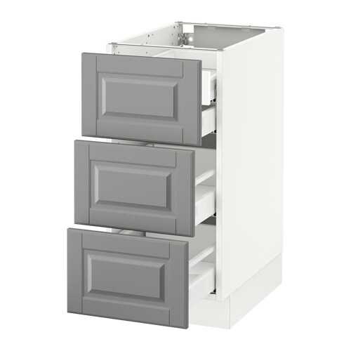Ikea Kitchen Fronts: SEKTION Base Cabinet W/3 Fronts & 4 Drawers