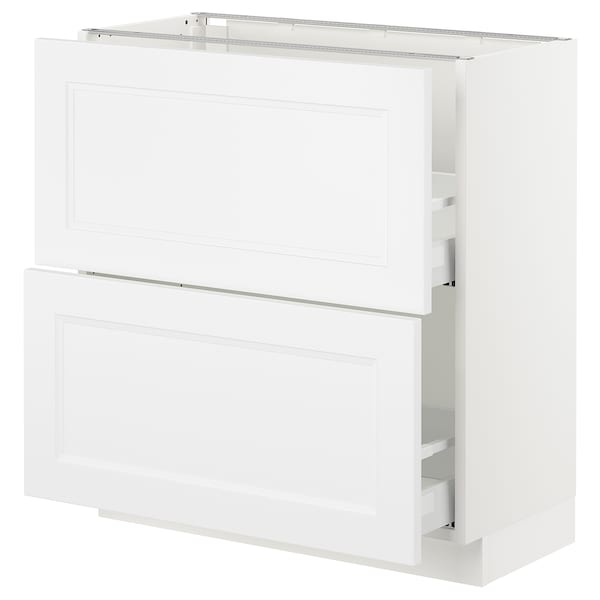 SEKTION Base cabinet with 2 drawers, white Maximera/Axstad matt white, 30x15x30 ""