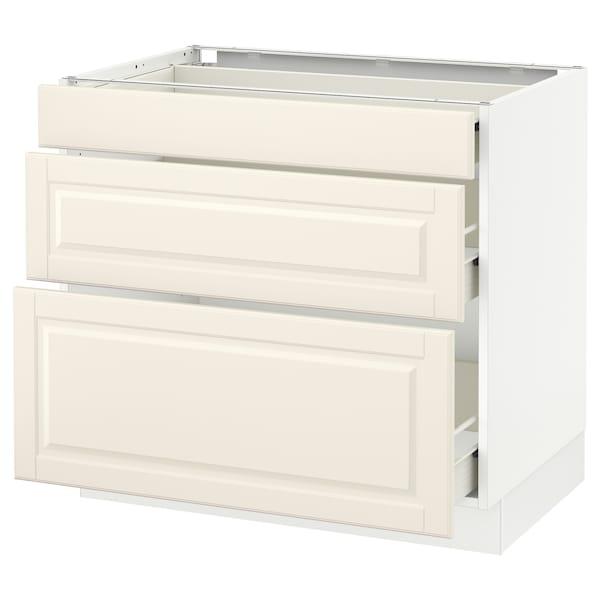 "SEKTION Base cabinet with 3 drawers, white Förvara/Bodbyn off-white, 36x24x30 """
