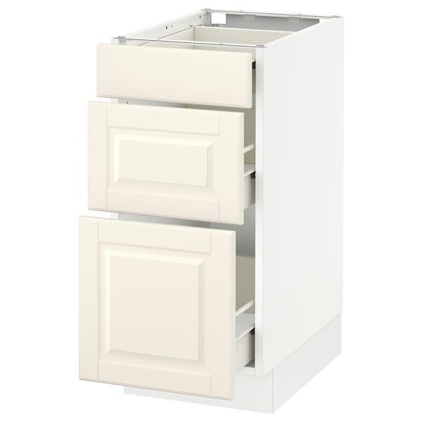 "SEKTION Base cabinet with 3 drawers, white Förvara/Bodbyn off-white, 15x24x30 """