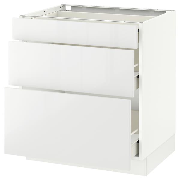 "SEKTION Base cabinet with 3 drawers, white Förvara/Ringhult white, 30x24x30 """