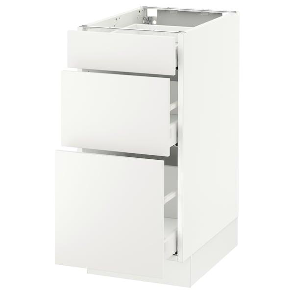 "SEKTION Base cabinet with 3 drawers, white Maximera/Häggeby white, 15x24x30 """