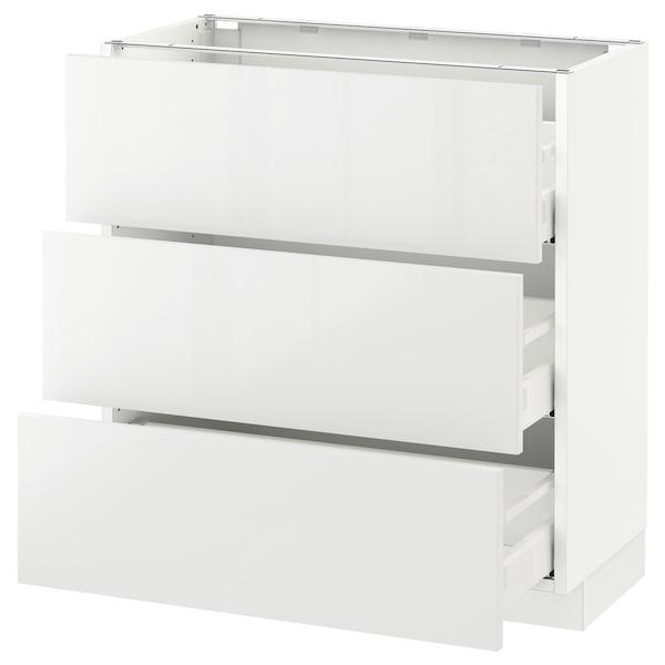 "SEKTION Base cabinet with 3 drawers, white Maximera/Ringhult white, 30x15x30 """