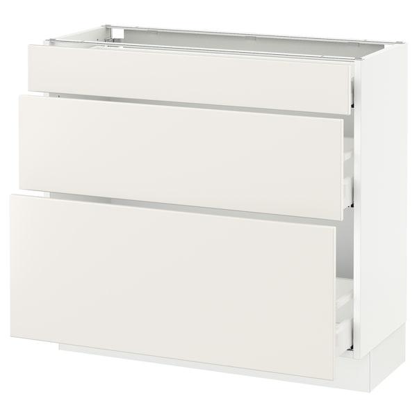 Sektion Base Cabinet With 3 Drawers White Maximera White 36x15x30 Ikea Canada Ikea