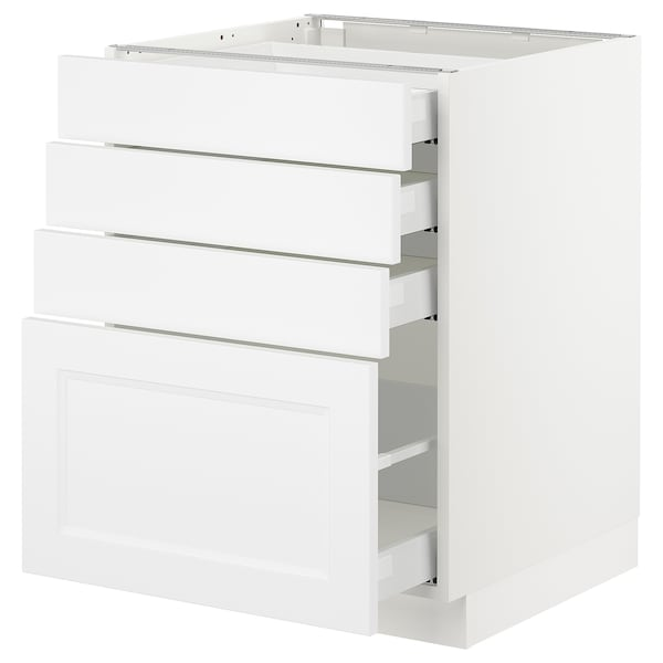 SEKTION Base cabinet with 4 drawers, white Maximera/Axstad matt white, 24x24x30 ""