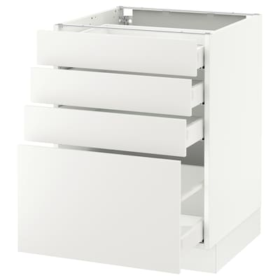 SEKTION Base cabinet with 4 drawers, white Maximera/Häggeby white, 24x24x30 ""