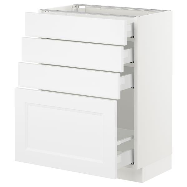 "SEKTION base cabinet with 4 drawers white Maximera/Axstad matt white 24 "" 15 "" 15 3/8 "" 30 """