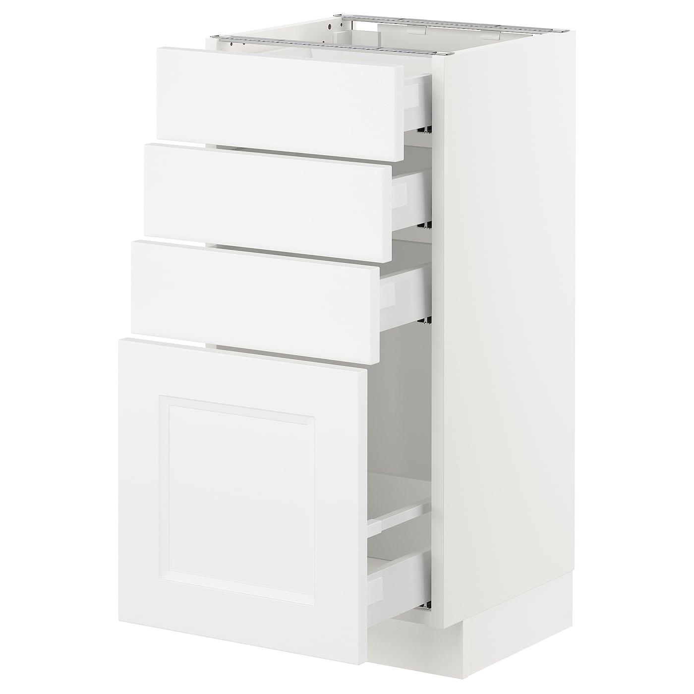 SEKTION Base cabinet with 4 drawers - white Maximera ...