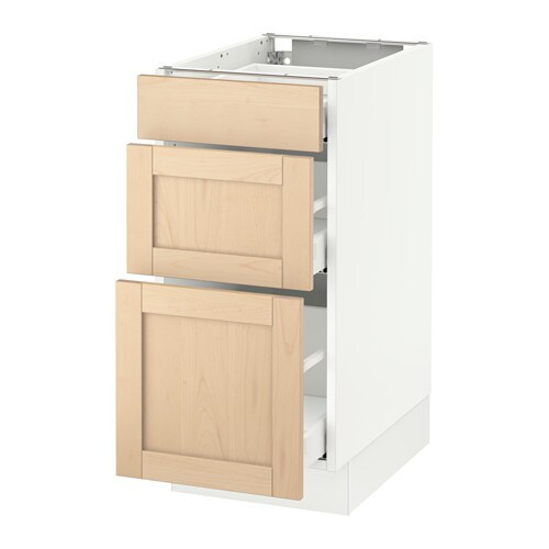 Sektion Base Cabinet With 3 Drawers White Ma Bj Rket