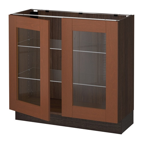 Kitchen Cabinet Doors Different Color Than Frame: SEKTION Base Cabinet With 2 Glass Doors