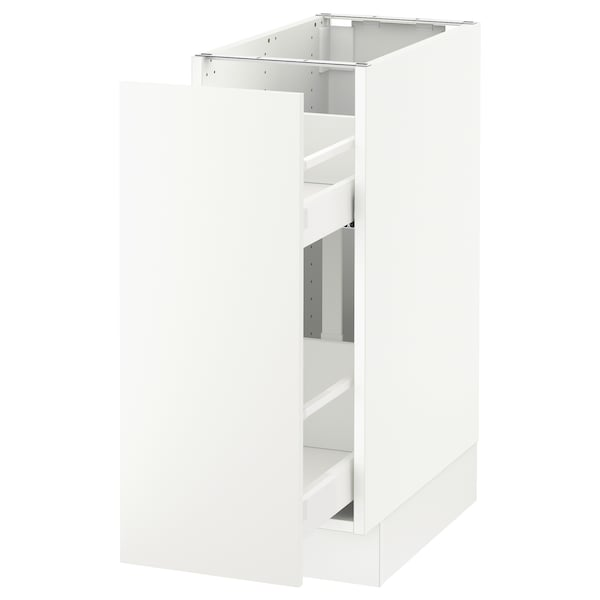 """SEKTION Base cabinet with pull-out storage, white/Häggeby white, 12x24x30 """""""