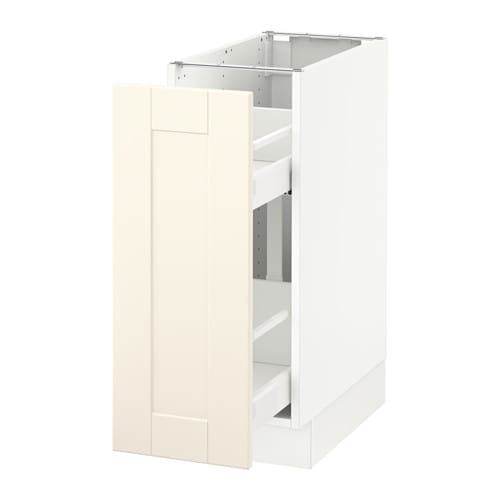 sektion base cabinet with pull out storage white grimsl v off rh ikea com IKEA Storage Drawers IKEA Pull Out Shelf