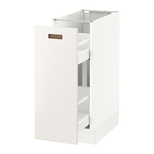SEKTION Base Cabinet With Pull Out Storage   White, Ma, Grimslöv Off White,  15x24x30  Part 9