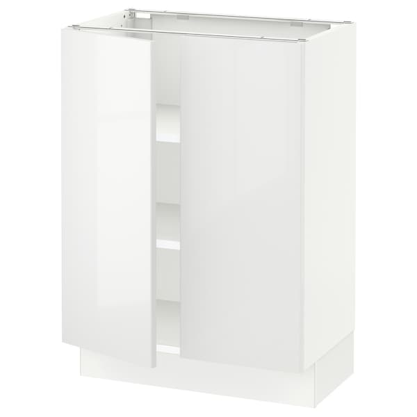 "SEKTION Base cabinet with shelves/2 doors, white/Ringhult white, 24x15x30 """