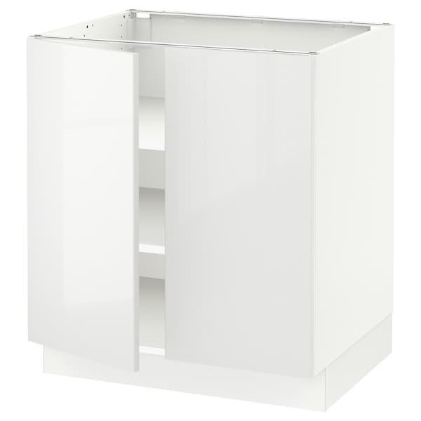 "SEKTION Base cabinet with shelves/2 doors, white/Ringhult white, 30x24x30 """