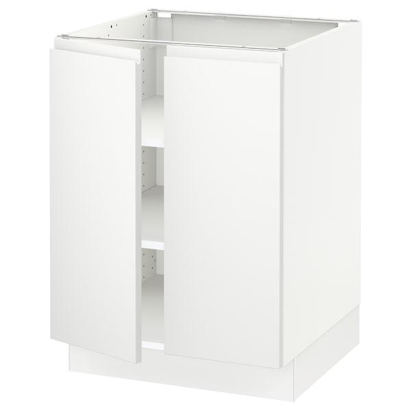 "SEKTION Base cabinet with shelves/2 doors, white/Voxtorp matt white, 24x24x30 """