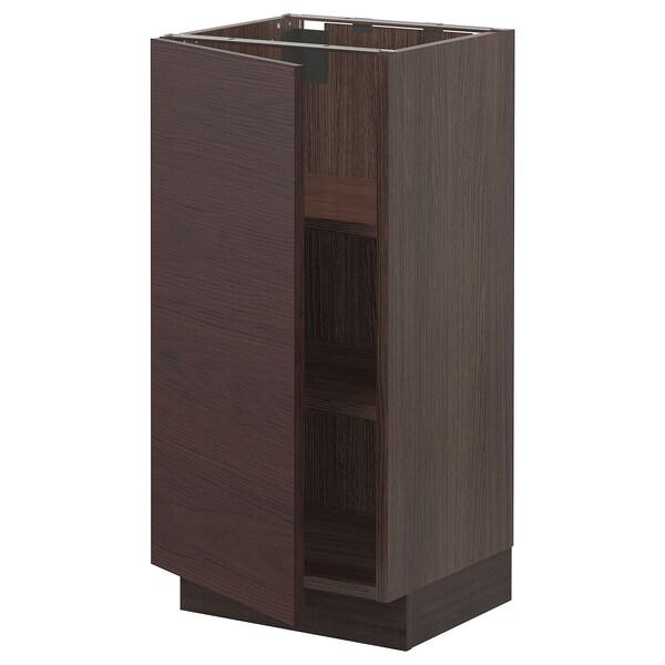 "SEKTION Base cabinet with shelves, brown Askersund/dark brown ash effect, 15x15x30 """
