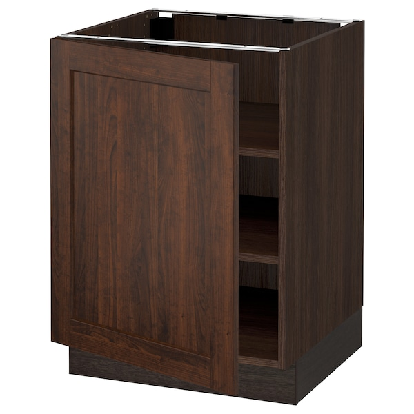 """SEKTION Base cabinet with shelves, brown/Edserum brown, 24x24x30 """""""