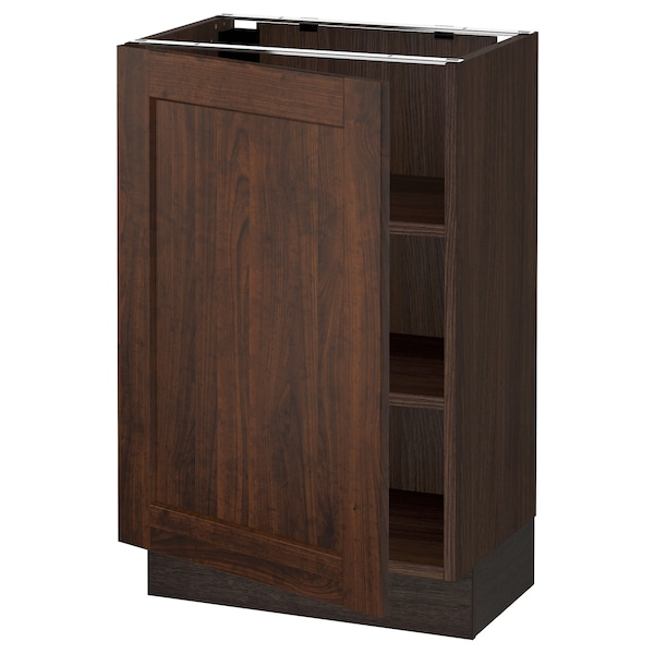 """SEKTION Base cabinet with shelves, brown/Edserum brown, 21x15x30 """""""