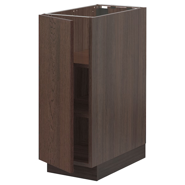 """SEKTION Base cabinet with shelves, brown/Sinarp brown, 12x24x30 """""""