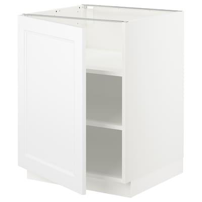 "SEKTION Base cabinet with shelves, white/Axstad matt white, 24x24x30 """