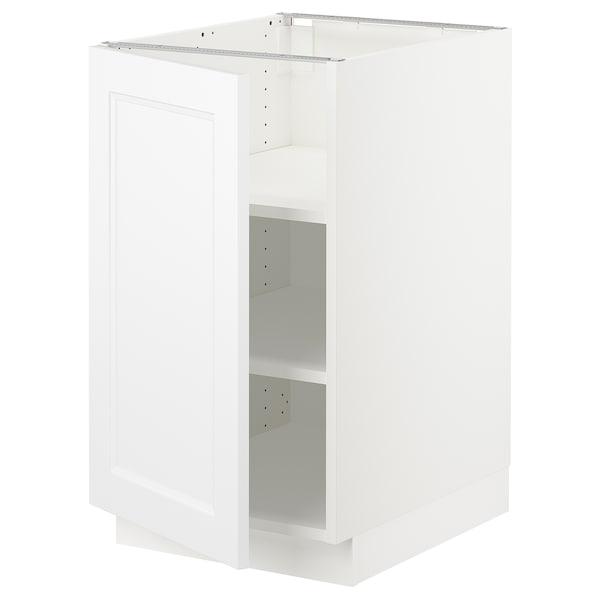"SEKTION Base cabinet with shelves, white/Axstad matt white, 18x24x30 """