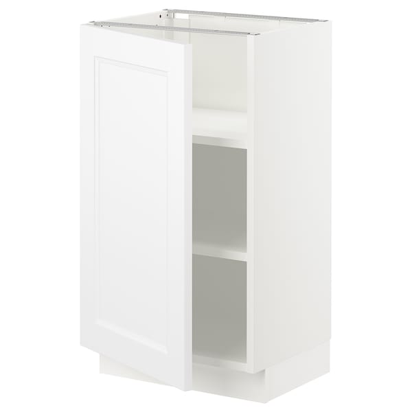 SEKTION Base cabinet with shelves, white/Axstad matt white, 18x15x30 ""