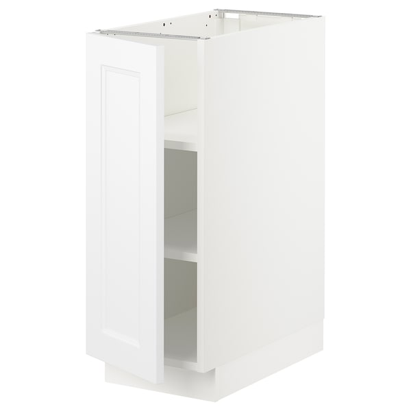 SEKTION Base cabinet with shelves, white/Axstad matt white, 12x24x30 ""